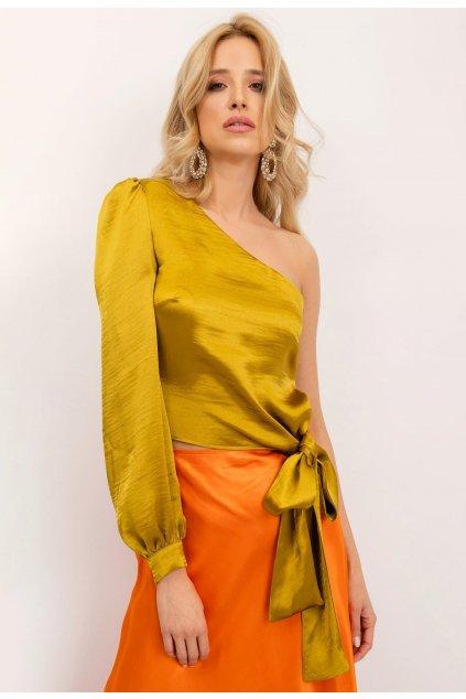 Olivové dámská elegantní halenka