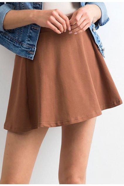 Hnědá dámská sukně do áčka