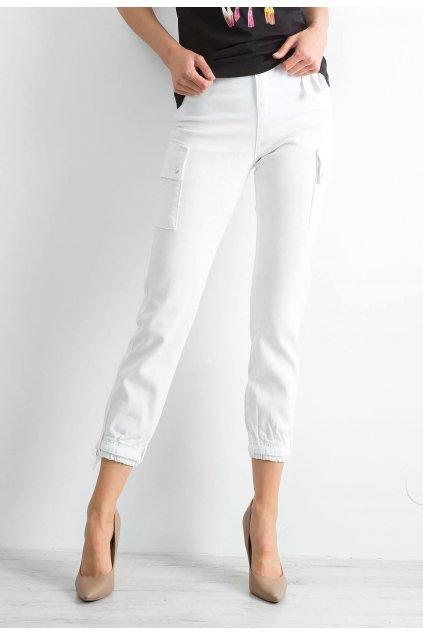 Bílé dámské kalhoty