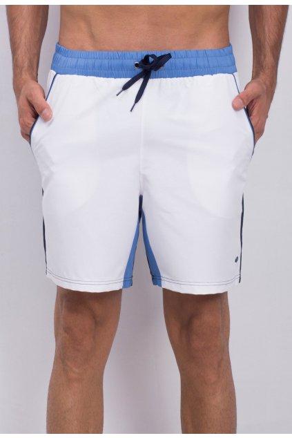 Bílo - modré pánské kraťasy
