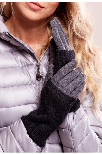 Šedé dámské rukavice