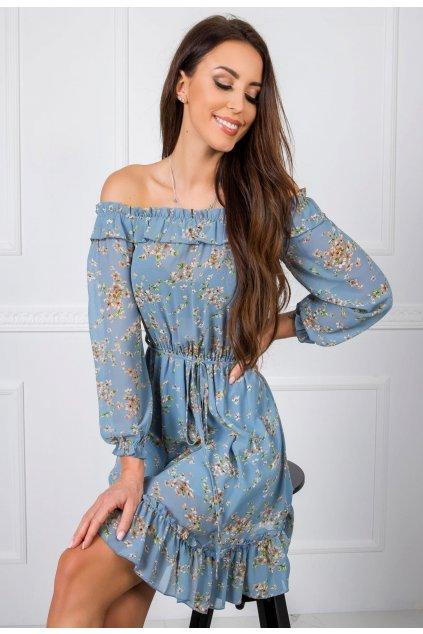 Modré dámské boho šaty