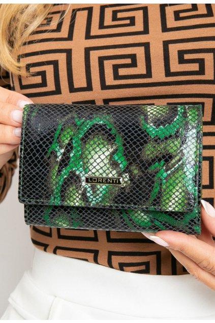 Zelená dámská peněženka