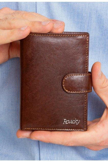 Hnědá pánská peněženka