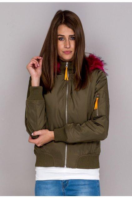 Khaki dámská bomber bunda