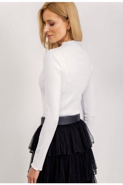 Bílá dámská halenka s dlouhým rukávem