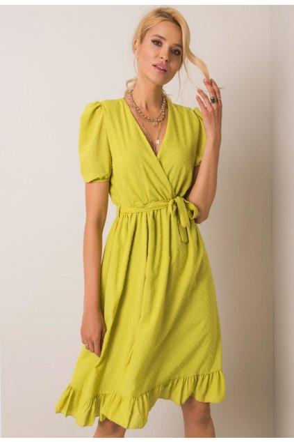 Limetkové dámské šaty