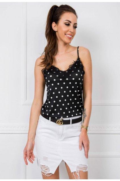 Bílá dámská džínová sukně