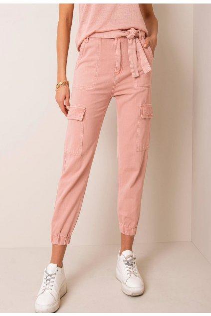 Růžové dámské džíny