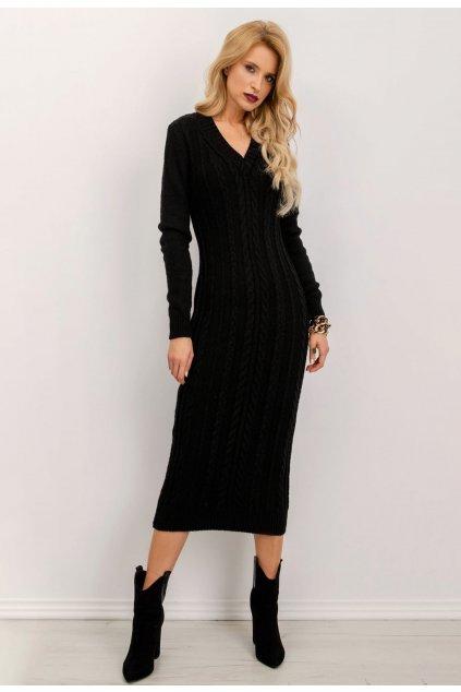 Černé dámské pletené šaty