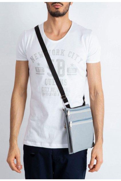 Šedá pánská taška přes rameno