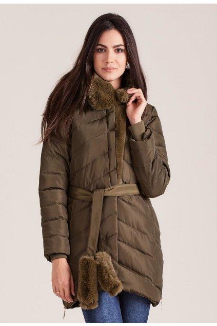 Khaki dámská zimní bunda