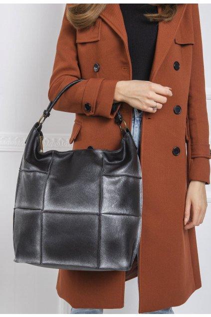 Černo - stříbrná dámská kabelka