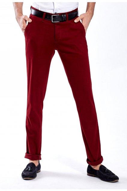 Bordové pánské kalhoty