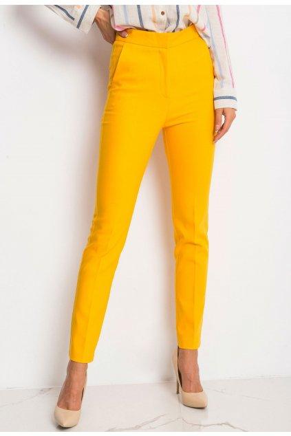 Žluté dámské kalhoty