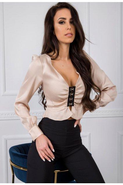 Lososové dámská elegantní halenka
