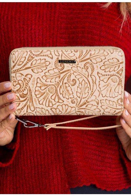 Béžová dámská peněženka