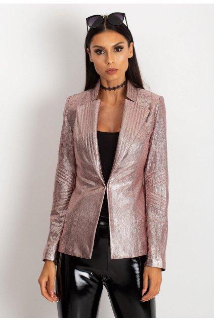 Růžové dámské sako