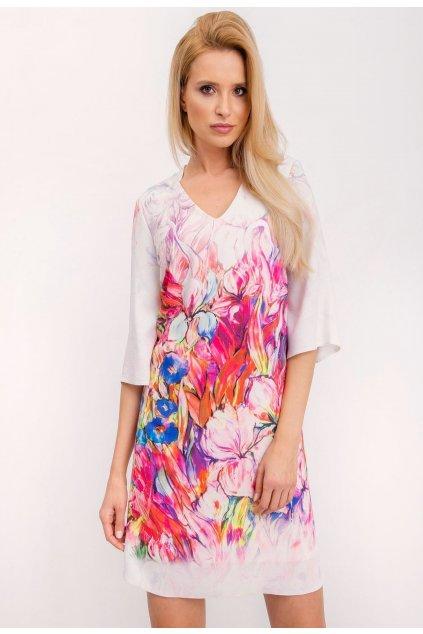 Růžové dámské koktejlové šaty
