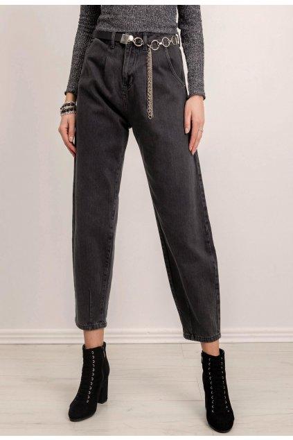 Grafitové dámské džíny