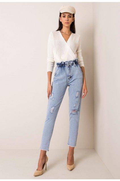 Modré dámské džíny