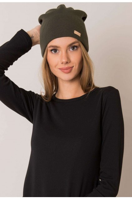 Khaki dámská čepice