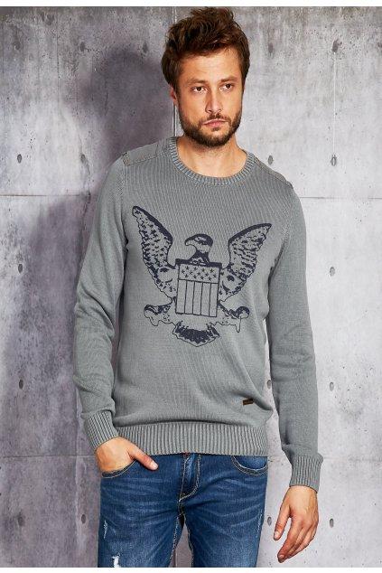 Šedý pánský svetr
