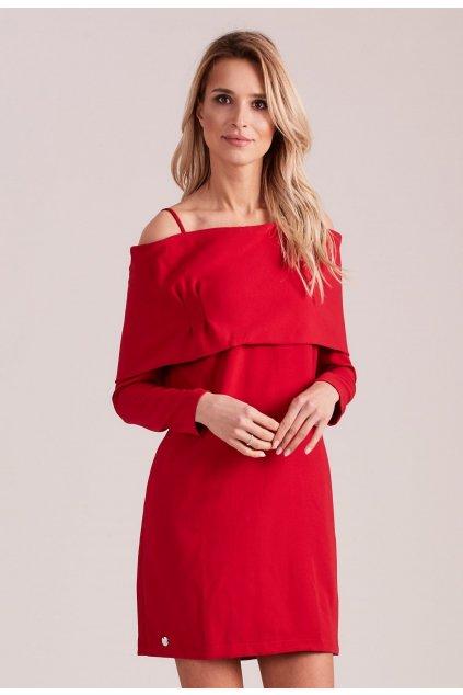 Červené dámské koktejlové šaty