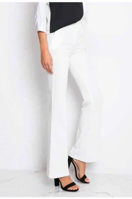 Ecrové dámské kalhoty