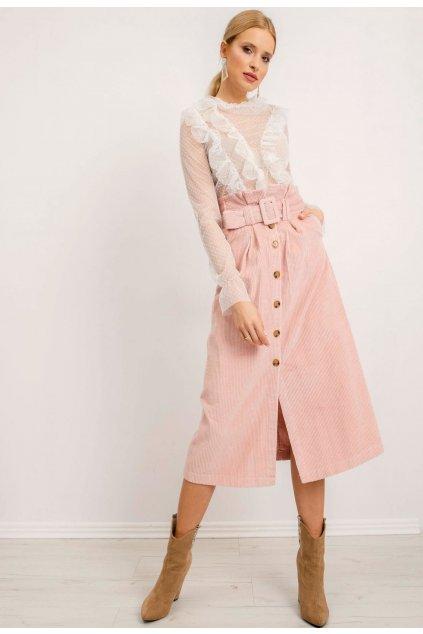 Růžová dámská sukně do áčka