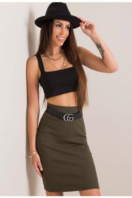 Khaki dámská pouzdrová sukně