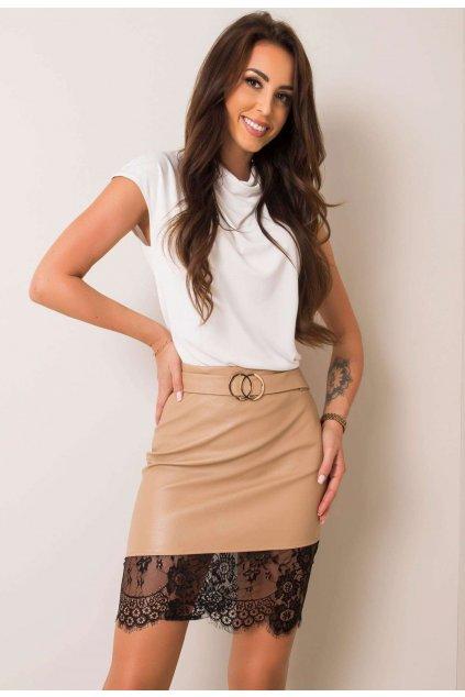 Béžová dámská sukně
