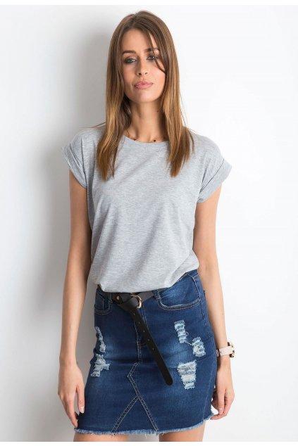 Šedé dámské tričko