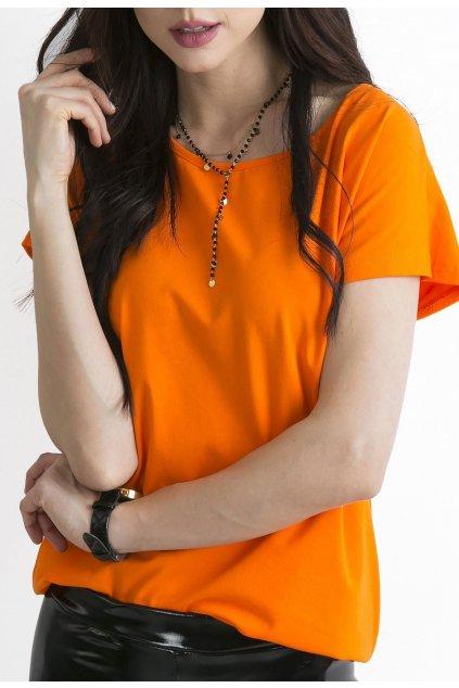 Oranžové dámské tričko
