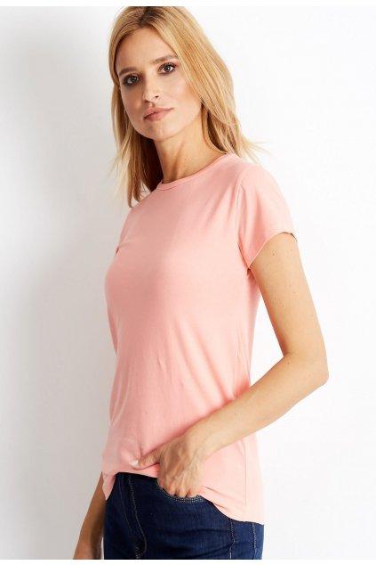 Broskvové dámské tričko