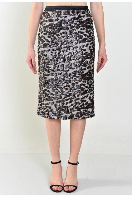 Hnědá dámská pouzdrová sukně