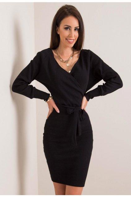 Černé dámské pouzdrové šaty