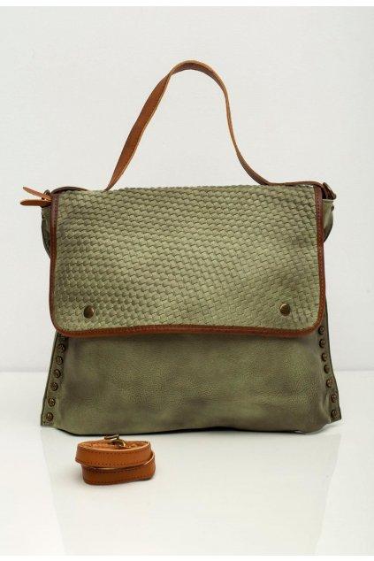 Zelená dámská kabelka