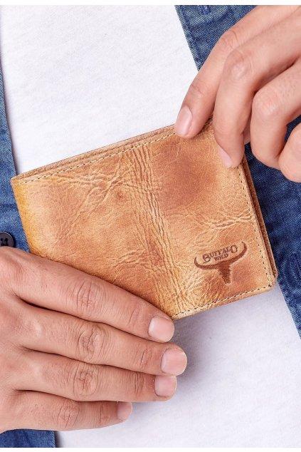 Béžová pánská peněženka