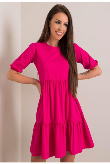 Fuchsiové dámské šaty