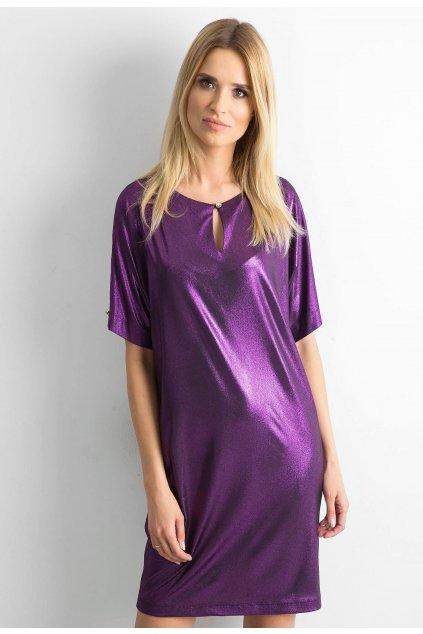 Fialové dámské šaty