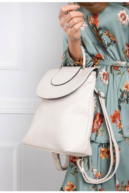 Ecrový dámský batoh