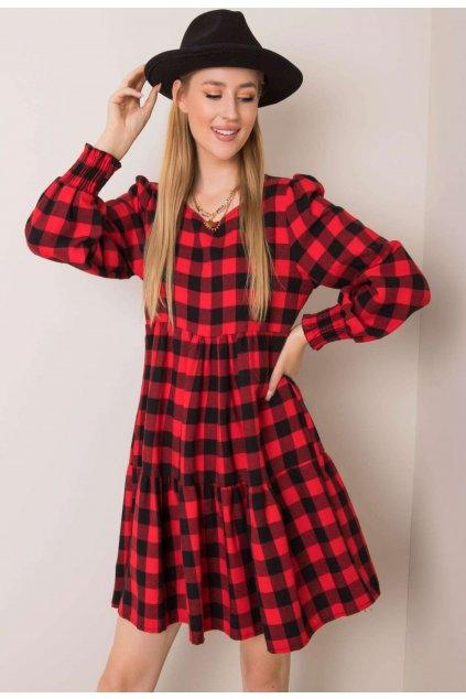 Černo - červené dámské šaty
