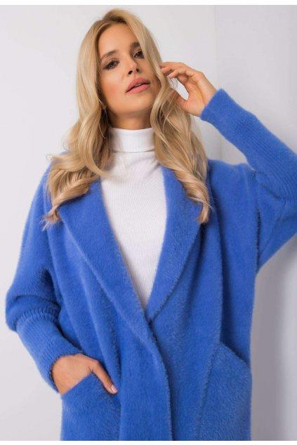 Modrý dámský kabát