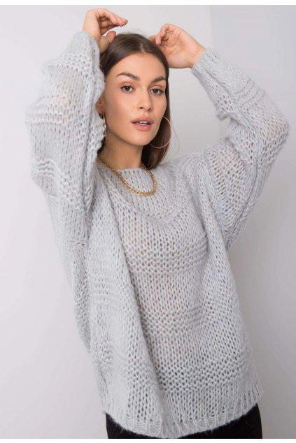 Šedý dámský svetr