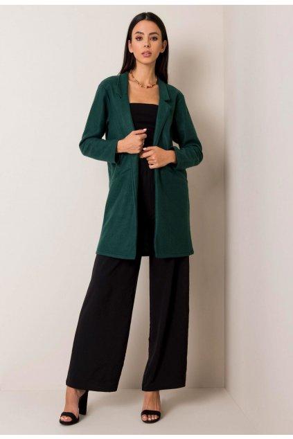 Zelený dámský kabát