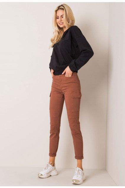 Hnědé dámské džíny