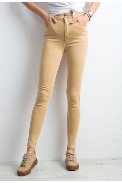 Béžové dámské džíny