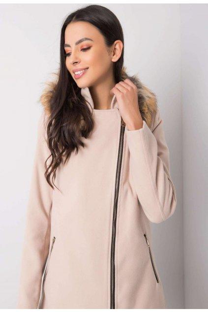 Béžový dámský kabát