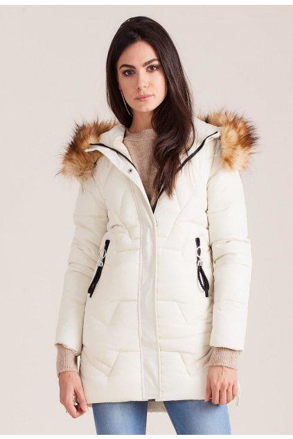 Ecrová dámská zimní bunda